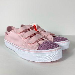 Vans Style 23 V Glitter Toe Chalk Pink Sneakers